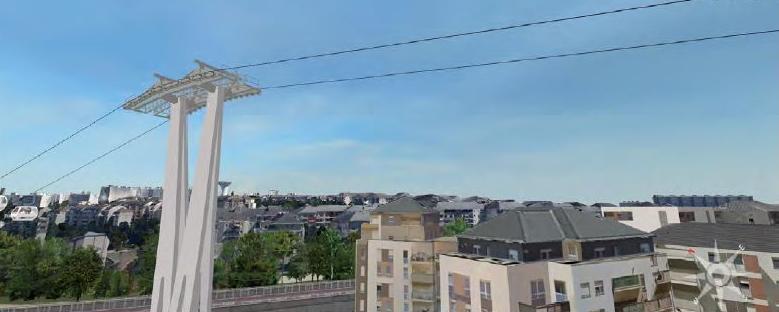 Téléval / Câble A - Vue sur l'immeuble Effidis Créteil Pointe du Lac